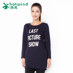 Hot Korean fashion letter printed long sleeve t-shirt woman long slim bottoming shirt coat 09H5902