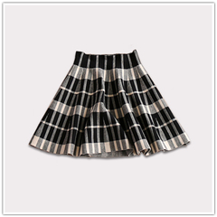 2014 Winter new style classic Plaid high waist slim wool knit skirt code: base price promotions