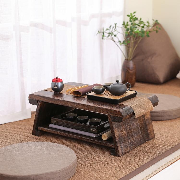 日式实木榻榻米小茶几飘窗桌阳台桌折叠家用炕桌茶桌地桌茶台矮桌