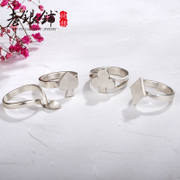 Wu Yue Pu S990 silver ring couple, old silver pure silver ring designer lucky love original creative silver jewelry