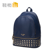 Shoebox shoe 2015 in the new trend of the Korean women bag backpack zipper rivets 1115583143