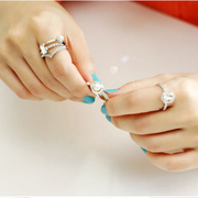 Beautiful Princess Korean fashion Pearl jewel-encrusted set of five rings diamond rings rings