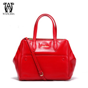 Wan Lima suede cowhide leather women bag handbag in Europe and big tides ladies Briefcase counters authentic