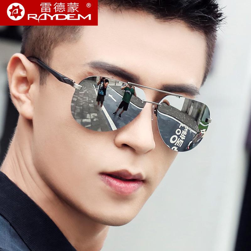 男士太阳镜女偏光镜反光墨镜男士蛤蟆镜半框太阳眼镜潮开车驾驶镜