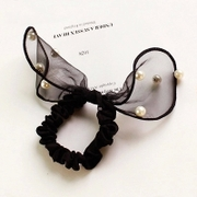 Know Richie Korean faux Pearl Butterfly lace bunny ears ring your loving rope elastic hair accessories
