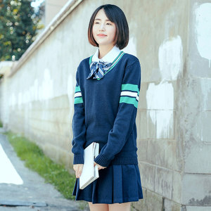 Girls' clothes college style spring JK uniform sweater middle school students knitted long-sleeved autumn and winter new Japanese and Korean school uniform sweater