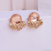 Mail compose good jewelry earring studs around wallet women Korea rhinestone star pendant Korean temperament earrings