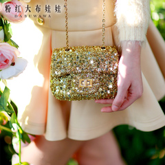 Baodan women shoulder big rag doll 2015 new ladies fashion little pink bag of wild light diagonal bag