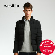 Westlink/West New 2015 winter casual solid color men's thick warm clothing collar cotton coat