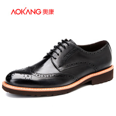 Aokangbuluoke carved leather business dress shoes fashion men's shoes fall of England new wave shoes