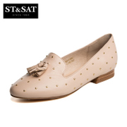 St&Sat/Saturday spring of 2016 new skins rivet head tassel shoes with low heels shoes SS61115650