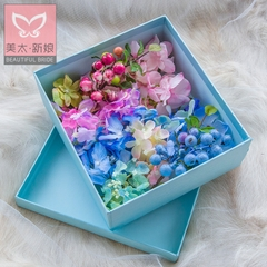 Meitai bride flower headdress set new color simulation flower box dress accessories B0729 Blueberry jam