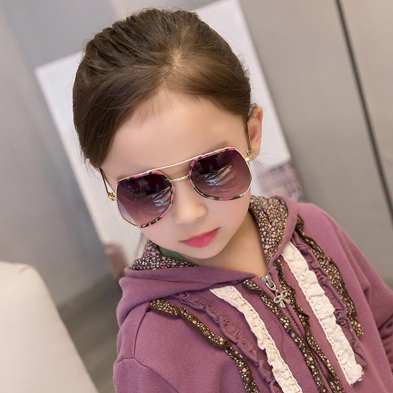 儿童太阳镜女孩防紫外线女童墨镜男童个性韩版宝宝眼镜女潮小小童