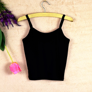 内搭内穿小吊带背心女夏季短款纯棉修身露脐半截裹胸打底抹胸显瘦图片