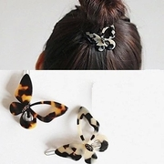 Know NI Korea fashion Leopard print bow frog clip hair bangs clip clips hair accessory jewelry