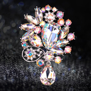 Haomei Swarovski elements Crystal brooch women''s high-end jewelry chest flowers scarf buckle gift