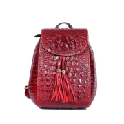 Beautiful beautiful dragons high-grade suede cowhide double leather embossed shoulder bag women's backpack new 2015 Europe surge
