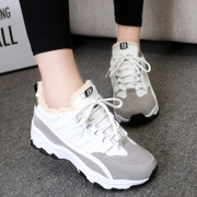 In spring and autumn the new Korean leisure shoes platform cushioned sneakers women shoes with breathable shoes high agannei