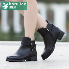 Hot ladies winter boots UK wind black casual ankle boots short tube women boots H82W5416