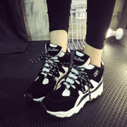 2015 new sneakers women's shoes for fall/winter Korean high shoes strap platform increases student shoes women