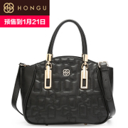 Honggu red Valley female header layer of leather the new 2016 rhombic pattern portable single shoulder bag slung 8070