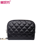 Leather handbags women's clutch bag women fall 2015 wave rhombic hand bag hand bag change bag mobile purse