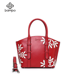 Banpo new leather handbag women shopping for fall/winter with snow plush new year trend shoulder bag