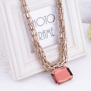 Fine jewelry fashion Joker short clavicle sweater chain necklace decorated female Korean clothing accessories