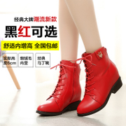 Kang Jiao women's boots in the autumn high tide tide girls boots ankle boots shoes Martin within the British air round head high with flat boots