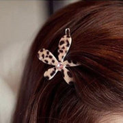 Know Richie bangs hair Korea tiara hair accessories flower jewelry Korean side clamp Leopard print rhinestone diamond clip