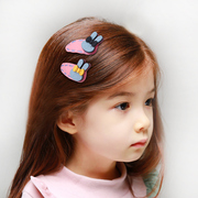 Know NI children hair thick woollen head girl hair bow cartoon rabbit clip card