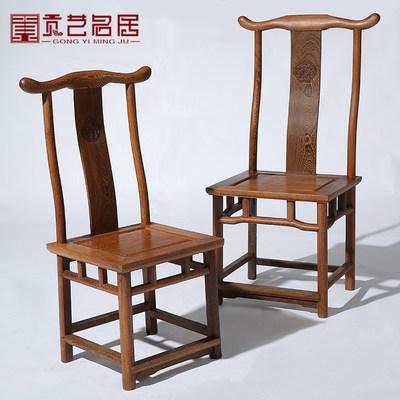 仿古新中式实木搭餐桌背靠椅子餐厅