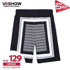Viishow2015 summer dress new shorts men wind shorts geometric patterns mixed colors of England five pants boom