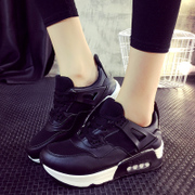 2015 Korean autumn winter new style sports shoes woman show pink cushioned shoes women's leather casual shoes women shoes wave