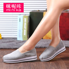 MI Ka 2015 summer shoe leather foot-wide lazy people Korea version Lok Fu shoe flashes female thick-soled platform shoes