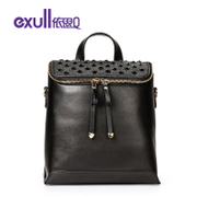 Exull q sale of 2016 new spring shoulder bag casual College rivet zippered carry bag for 16313078