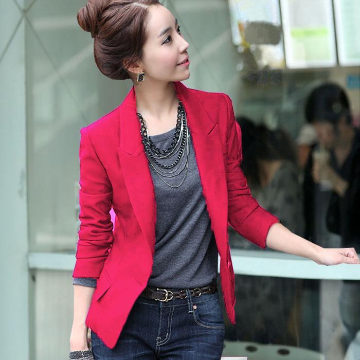 秋冬装新款修身加绒加厚小西装外套女士韩版显瘦休闲短款长袖西服