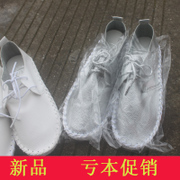 2015 little white-bean shoes spring/summer shoes girl Korean version with flat, shallow, circular, head of leisure and soft bottom shoes