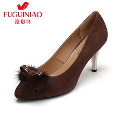 Autumn fuguiniao shoes high heels women's shoes leather shoes women shoes pointed stiletto shoes
