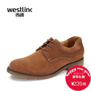 Westlink/fall 2015 West end of New England casual low cut lace vintage pierced engraved men's shoes