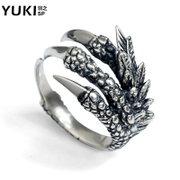 YUKI Korean men say long claw-style Thai silver aggressive index finger ring, ring ring ring designs