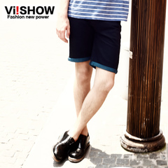 Summer slim minimalist tidal viishow men's shorts men's denim shorts men's summer dress new style