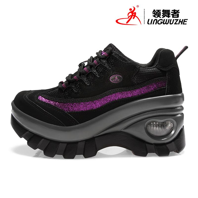 增高8CM領舞者鼕季運動正品防水保暖女戶外鞋徒步鞋登山鞋女