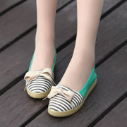 Package postal 2015 Spring/Summer Academy wind light, circular, flat-bottom shoes shoes with bow mixed colors low casual shoes
