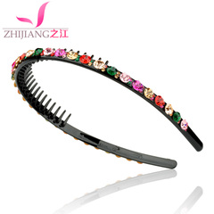 River-toothed headband drill collar card full drill female hair ACC Korea issuing non-slip hair clips
