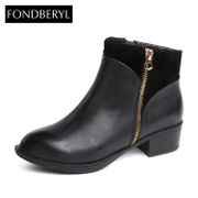 Fondberyl/feibolier 2015 winter leather boots in women's shoes FB54112437