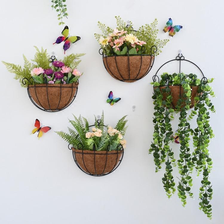 北欧墙壁装饰品墙上壁挂花篮卧室阳台墙面小花架创意家居装饰花盆