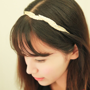 Korea wave leaves new stylish hair accessories metal alloy leaf headband hairpin fine wild temperament of women