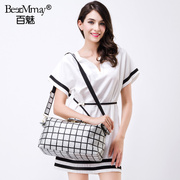 Hundred magic new leather silver Plaid fashion trend bags Tote shoulder bag handbag in summer 2015 tide