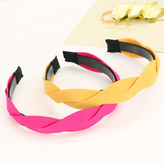 Know Connie hair Korea chiffon twist headband wide-toothed winding cloth headband hairpin jewelry women